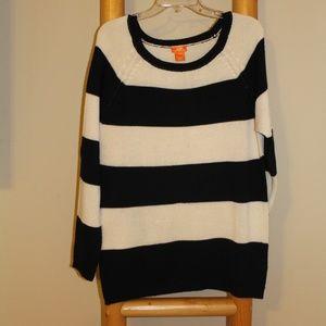 Black & White Striped Knit Sweater